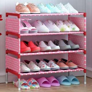 Free SF stockable 4 - layer shoe rack