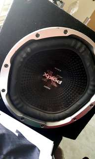 Car subwoofer sony xplod