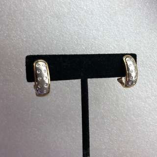 14K diamond earrings 鑽石耳環