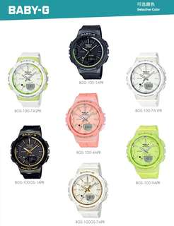 Brand New and 100% Authentic BGS-100 Step Tracker Model Standard Analog Digital Ladies watch