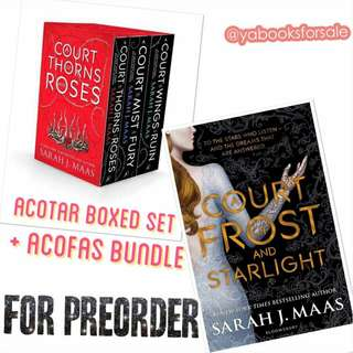 A Court of Thorns and Roses Boxed Set + A Court of Frost and Starlight bundle