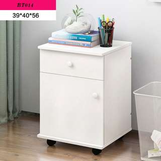 (Ready Stock) Multipurpose Cabinet/Side Table with wheel
