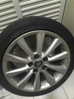 Lexus IS250 Spare Tyre with rim