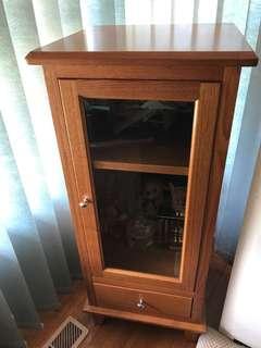 Timber display cabinet