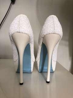 White Platform Pumps Wedding Shoes