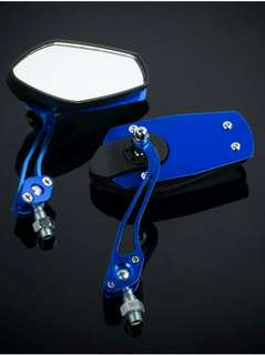 Motorcycle Side Mirror  Blue