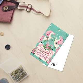 Unicorn Happy Birthday Mini Gift Card
