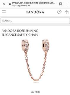 Pandora gold safety chain AUTHENTIC