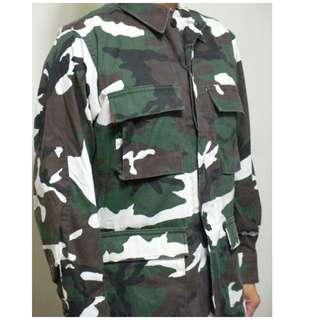 美軍 公發M65 style叢林迷彩上衣
