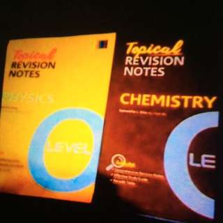 Topical Revision Notes Physics/Chemistry For O Level