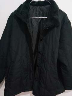 Black Fur Winter Coat Jacket