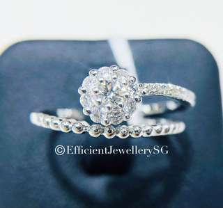 18K 750 Rope Dubby Diamond Ring