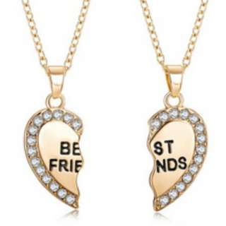 """Best Friend"" Heart Necklace"