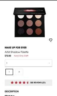 Makeup Forever Artist Shadow Palette
