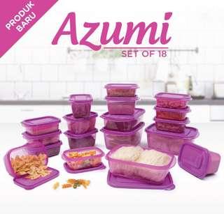 Wadah / Tempat Penyimpanan Makanan - Azumi set of 18