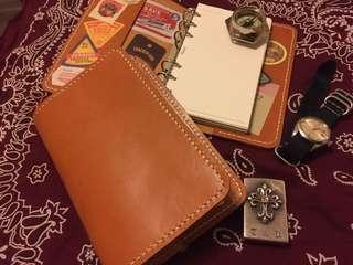 Vintage Handmade Leather cover Diary 皮製記事簿