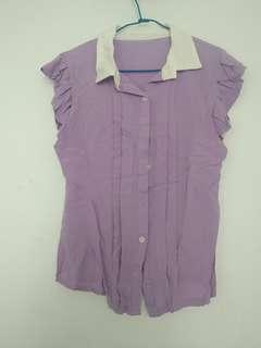 🚚 粉紫有領背心