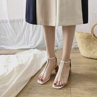 包頭半拖鞋女2018新款涼拖女夏外穿復古平底鞋兩穿尖頭時尚穆勒鞋
