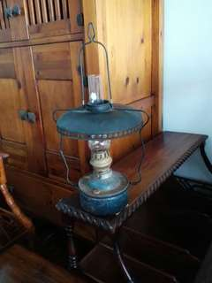 Old Rustic Oil Hanging Lamp