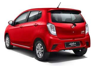 Perodua Axia spoiler with colour