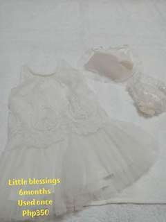 Little blessings baptismal attire