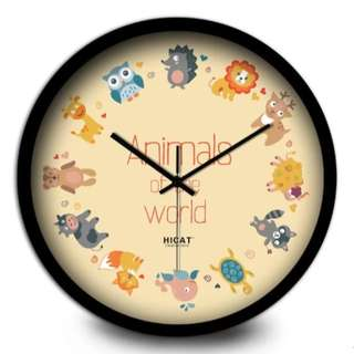 CL021 Hari Raya Hot Sales! Animal Wall Clock CL