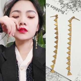 Geometry Long Chain Earrings