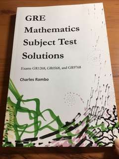 GRE maths subject test solutions