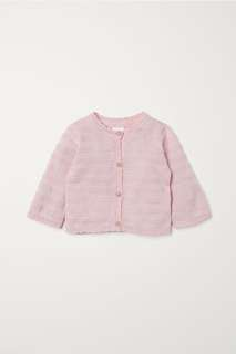 H&M baby textured cardigan pink