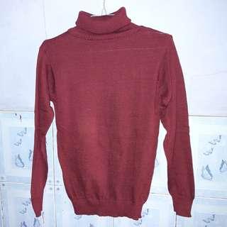 Sweater helterneck maroon