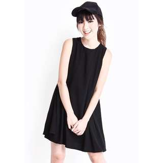 A For Arcade Sienna Slit Tank Dress in Black