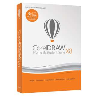 CorelDRAW Home and Student Suite X8 - 3 PCs (Windows)