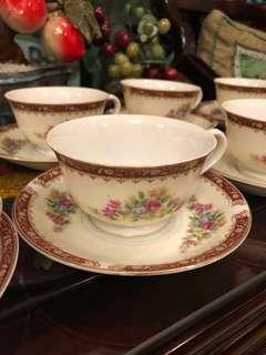 Vintage flower cup and saucer set