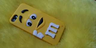 Iphone 5s yellow M&M's rubber case