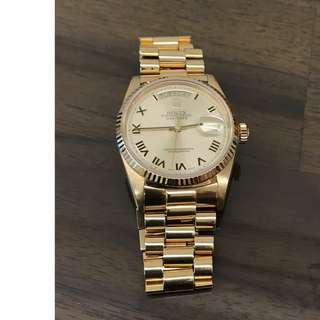 100% AUTHENTIC GENTS GOLD ROLEX FOR SALE
