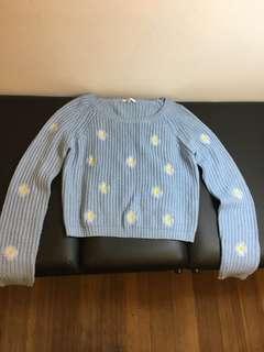 Valleygirl light blue daisy jumper S