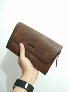 Man Leather Handbag (Brown)