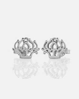 Meadowlark peony earrings