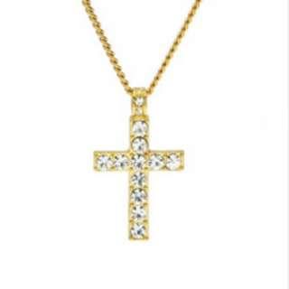 Rhinestone Crystal Cross Necklace