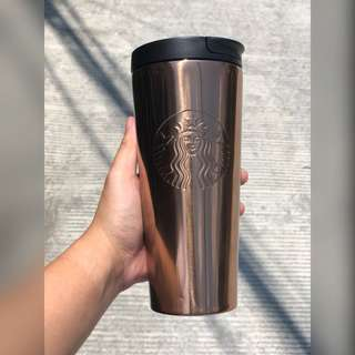Starbucks Bronze Copper Stainless Steel Tumbler
