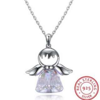 S925 Silver Angel Wing Necklace