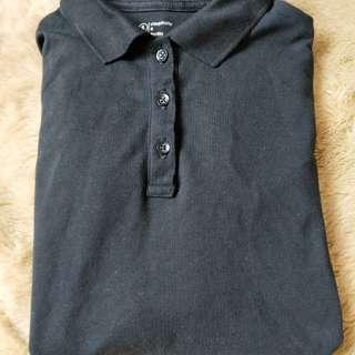 NET黑色長袖彈性襯衫