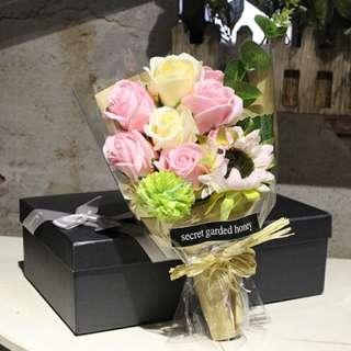 母親節創意生日礼物香皂玫瑰花束禮盒