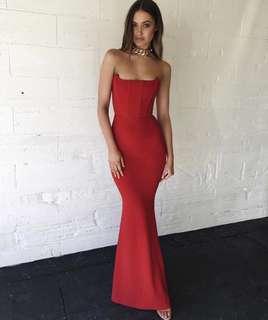 Renting Zachary Elvira Gown- Crimson