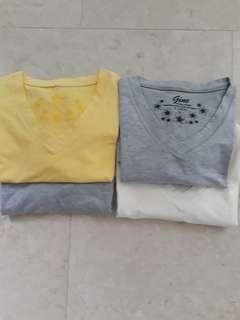 4 Ladies V Neck Cotton T  (Size L)