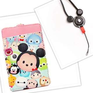 TSUM TSUM KEYCHAIN CHARMS LANYARD CARD HOLDER SET