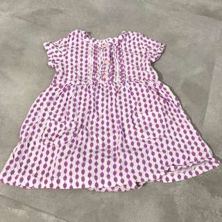 Carter's baby girl dress floral purple