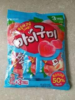 全新新口味韓國桃味啫喱糖