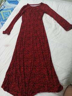 Preloved cheap pretty long dress