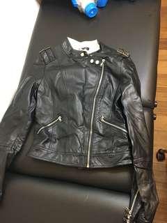 Faux leather jacket black 8